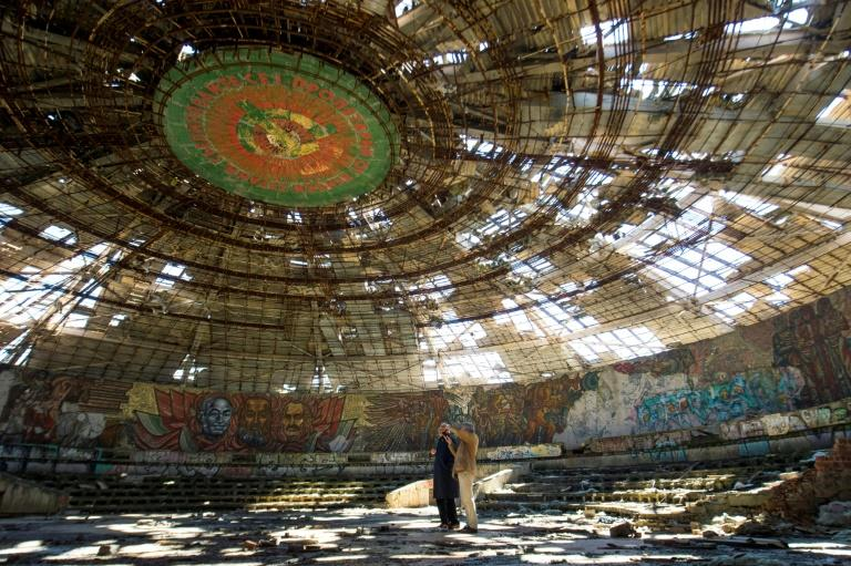 Inaugurated in 1981, the Buzludzha monument fell into disrepair following the collapse of the Iron Curtain in 1989 and now lies empty and crumbling