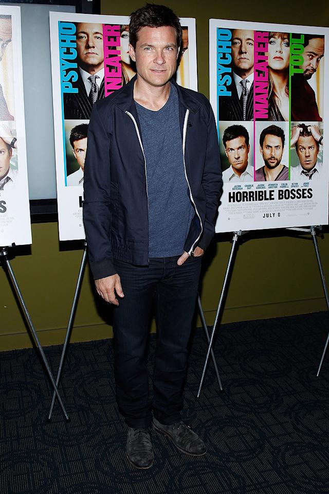 """<a href=""""http://movies.yahoo.com/movie/contributor/1800019148"""">Jason Bateman</a> at the New York screening of <a href=""""http://movies.yahoo.com/movie/1810161382/info"""">Horrible Bosses</a> on June 23, 2011."""