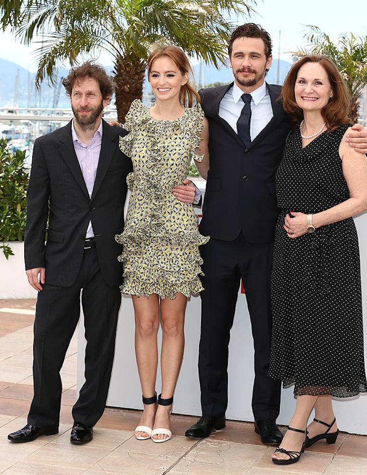 CANNES, FRANCE - MAY 20:  (L-R) Actor Tim Blake Nelson, actress Ahna O'Reill, director James Franco and actress Beth Grant attend the photocall for 'As I Lay Dying' at The 66th Annual Cannes Film Festival on May 20, 2013 in Cannes, France.  (Photo by Andreas Rentz/Getty Images)