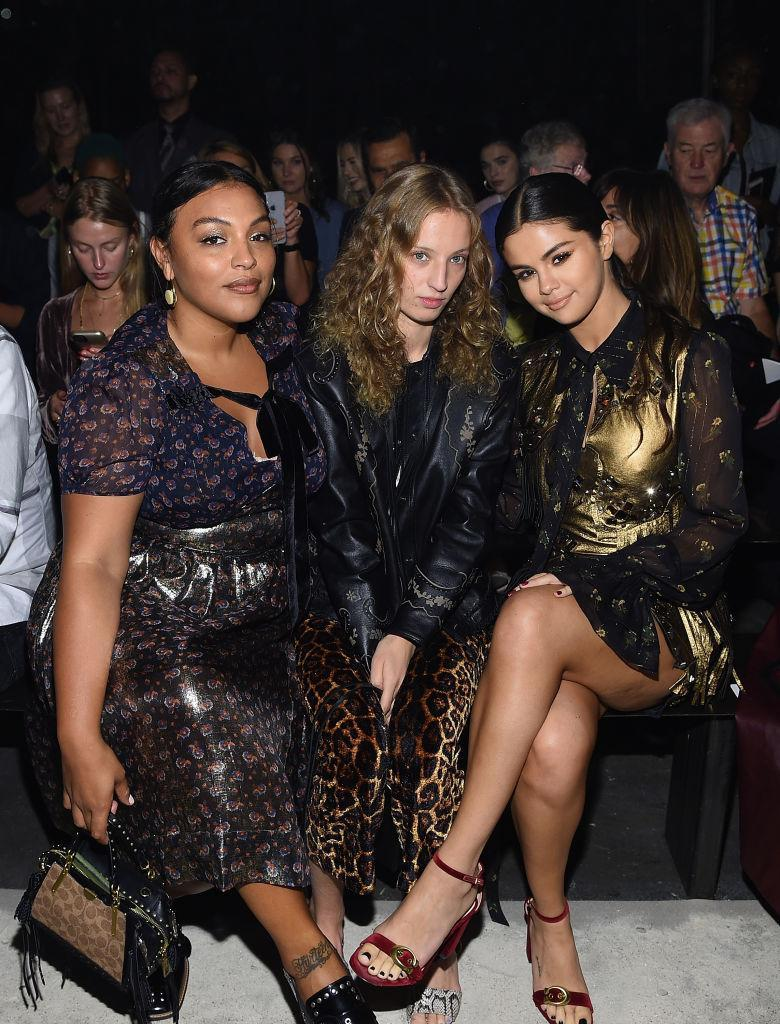 <p>Paloma Elesser, Petra Collins and Selena Gomez attend the Coach Spring 2019 show during New York Fashion Week at Pier 94 on September 11, 2018 in New York City. (Photo: Dimitrios Kambouris/Getty Images) </p>