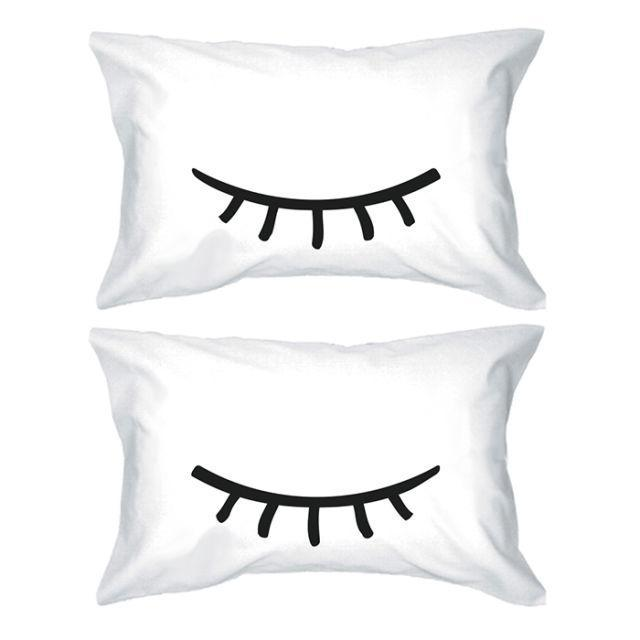 """<p>Catch some Zzzs with these sleepy pillowcases. ($29.99; <a href=""""https://www.walmart.com/ip/Cute-Pillowcases-300-Thread-Count-Standard-Size-21-x-30-Sleeping-Eyelashes/118731642"""" rel=""""nofollow noopener"""" target=""""_blank"""" data-ylk=""""slk:walmart.com"""" class=""""link rapid-noclick-resp"""">walmart.com</a>)</p><p><strong><a href=""""https://www.walmart.com/ip/Cute-Pillowcases-300-Thread-Count-Standard-Size-21-x-30-Sleeping-Eyelashes/118731642"""" rel=""""nofollow noopener"""" target=""""_blank"""" data-ylk=""""slk:BUY NOW"""" class=""""link rapid-noclick-resp"""">BUY NOW</a></strong><br></p><p><strong>RELATED: <a href=""""http://www.redbookmag.com/beauty/a47610/what-happens-when-you-sleep-in-makeup/"""" rel=""""nofollow noopener"""" target=""""_blank"""" data-ylk=""""slk:7 Gross Things That Happen to Your Skin When You Sleep In Your Makeup"""" class=""""link rapid-noclick-resp"""">7 Gross Things That Happen to Your Skin When You Sleep In Your Makeup</a></strong><br></p>"""