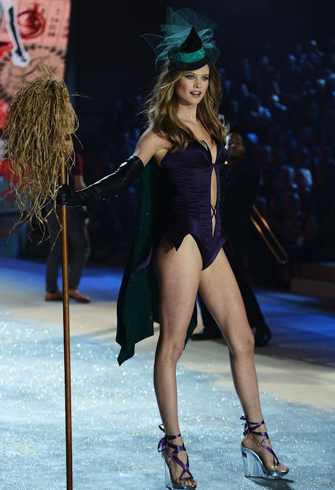 Behati Prinsloo walks the runway during the 2012 Victoria's Secret Fashion Show at the Lexington Avenue Armory on November 7, 2012 in New York City.