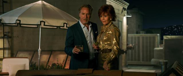 Don Johnson, Jane Fonda in the film <em>Book Club</em>. (Photo: Paramount Pictures)
