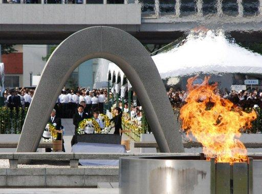 Some 50,000 people on Monday attended the official ceremony in Hiroshima