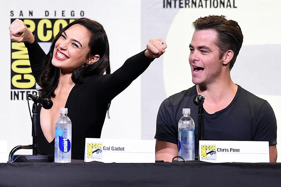 <p>Stars Gal Gadot and Chris Pine were on hand for the debut of the first <i>Wonder Woman</i> trailer. <i>(Photo: Kevin Winter/Getty Images)</i></p>