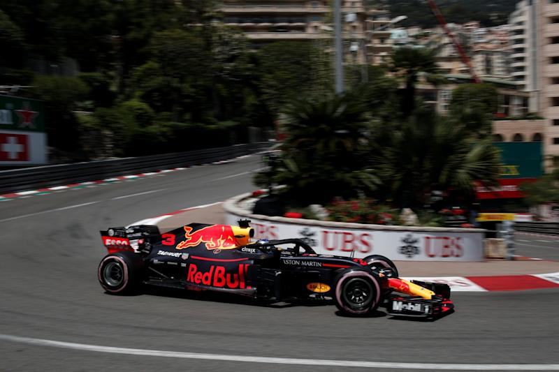 On pole: Ricciardo produced a brilliant lap at the iconic Monaco circuit: REUTERS