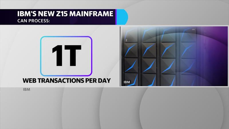 IBM's new z15 mainframe can process 1 trillion web transactions per day.