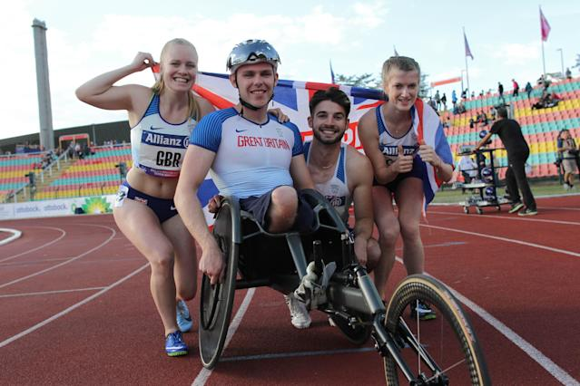 Maguire (second left) was competing at his first European Championships. Pic: Ben Booth Photography