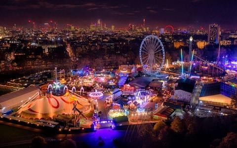 Hundreds of attractions in Hyde Park light up the night sky - Credit: Chris Gorman/Big Ladder