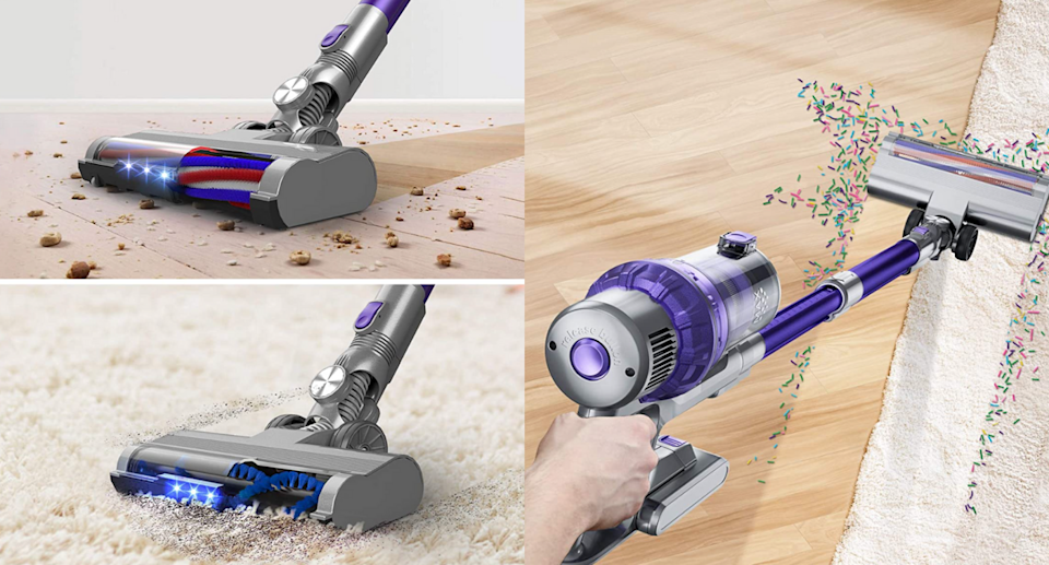 This cordless vacuum cleaner is a 'fraction of the cost' of similar name-brand models (Photo via Amazon)