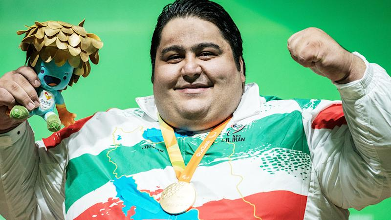 Siamand Rahman, pictured here with his gold medal at the Rio Paralympics in 2016.