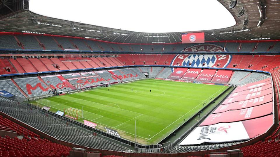 Champions League na Allianz Arena.   Pool/Getty Images