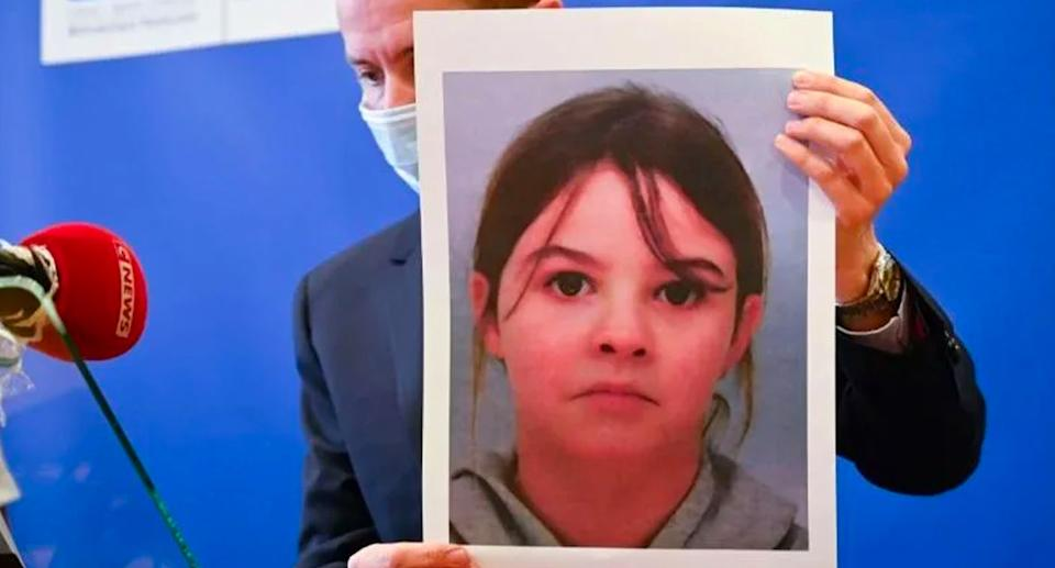 A photo of Mia, 8, who was missing for five days before her rescue. Source: AFP