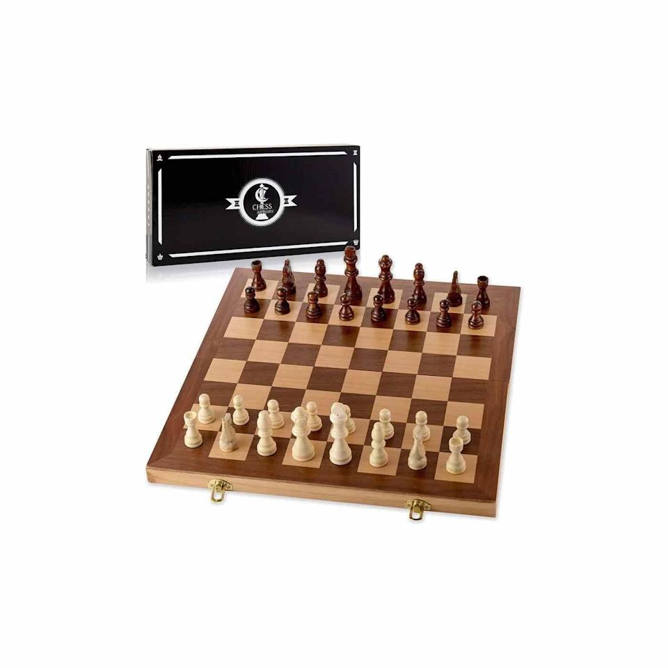 "<p><strong>Chess Armory</strong></p><p>amazon.com</p><p><strong>$32.99</strong></p><p><a href=""https://www.amazon.com/dp/B01256V578?tag=syn-yahoo-20&ascsubtag=%5Bartid%7C10072.g.34993775%5Bsrc%7Cyahoo-us"" rel=""nofollow noopener"" target=""_blank"" data-ylk=""slk:SHOP NOW"" class=""link rapid-noclick-resp"">SHOP NOW</a></p>"