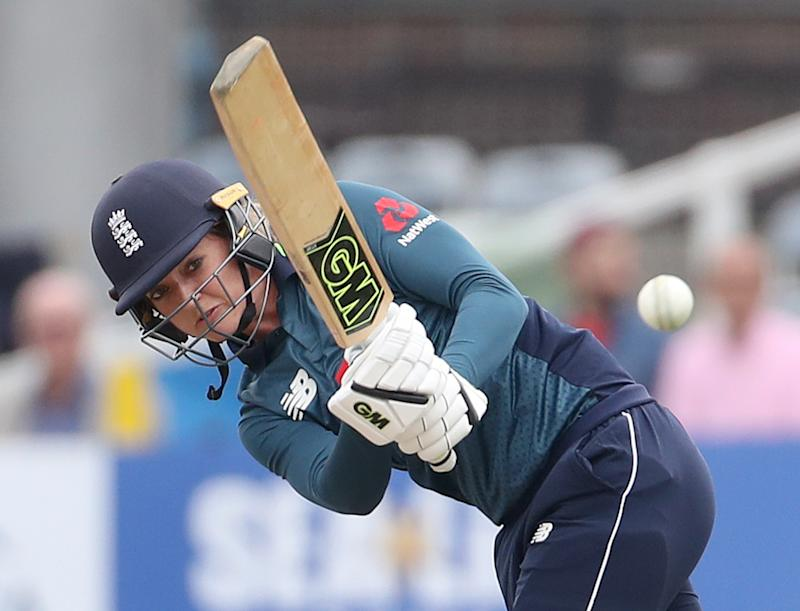 England's Sarah Taylor batting during the second Women's One Day International Series match at the 1st Central County Ground, Brighton. (Photo by Gareth Fuller/PA Images via Getty Images)