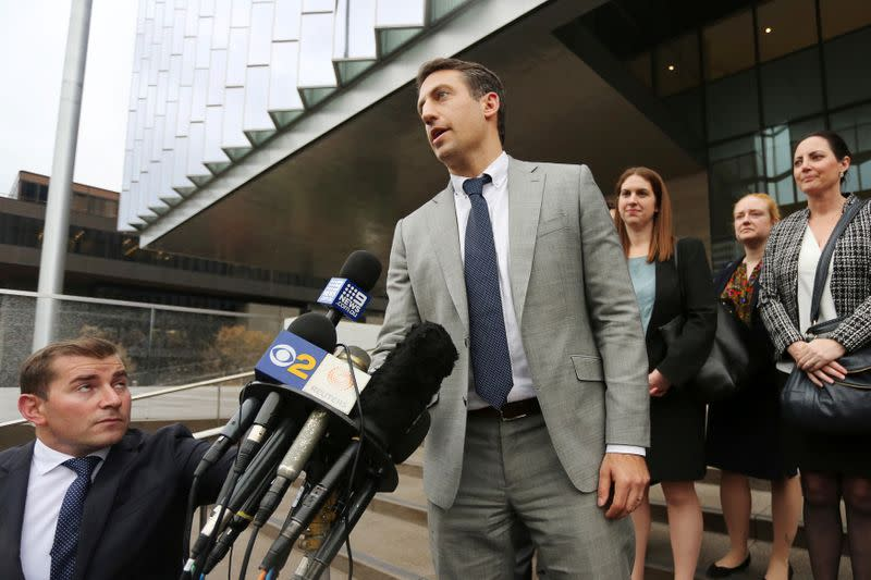 Defendant Attorney Alex Spiro speaks to reporters after a U.S. District Court jury found Tesla Inc chief executive Elon Musk not liable for defamation damages, in Los Angeles