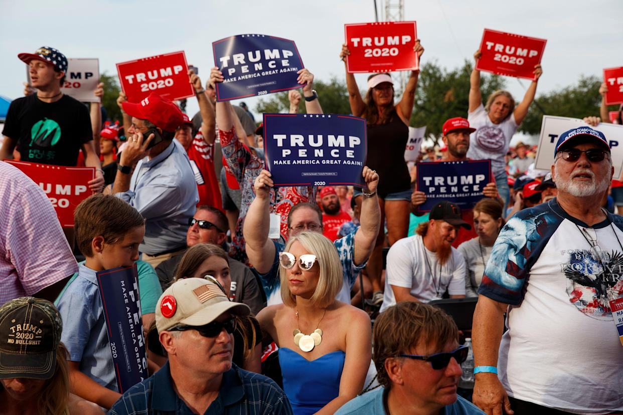 Supporters of President Trump at a rally in Panama City Beach, Fla., May 8, 2019. (Photo: Evan Vucci/AP)