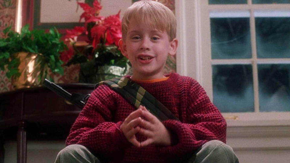 Macaulay Culkin in festive classic 'Home Alone'. (Credit: Fox)