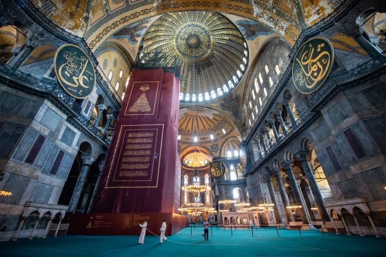 Hagia Sophia, built as a Christian cathedral, was this year converted into a mosque for the second time in its near-1,500-year history
