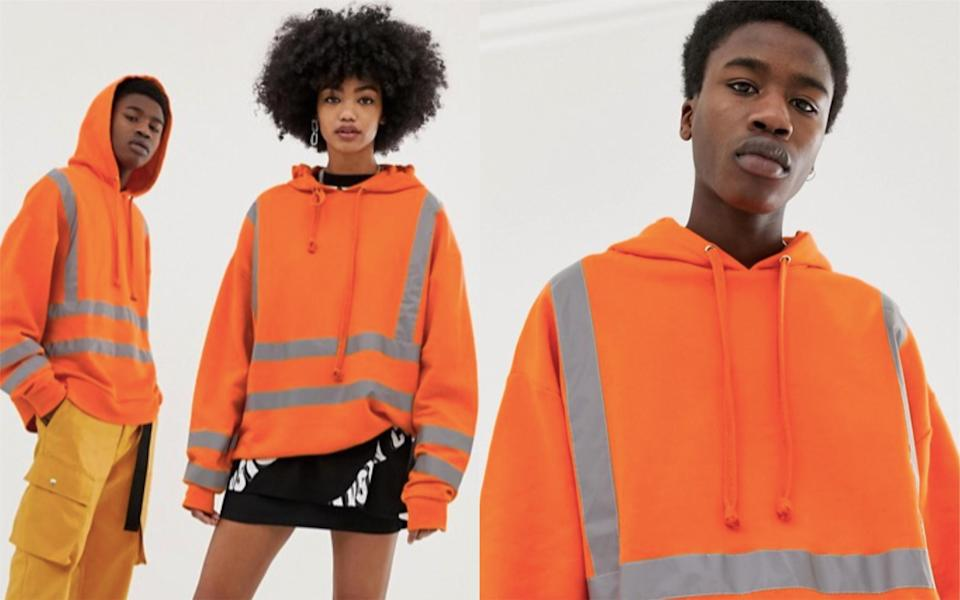 """Social media users are baffled by the """"high-vis"""" being sold on ASOS [Photo: ASOS]"""
