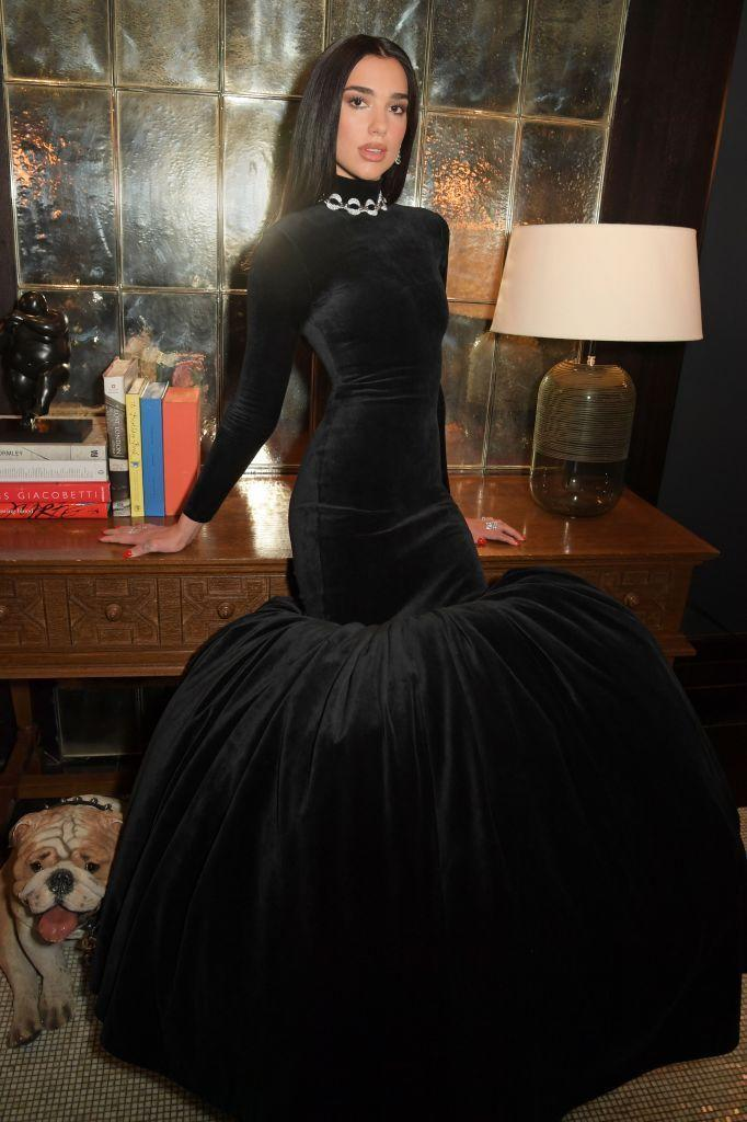 <p>The 25 year-old also wore a custom-made, velvet and puffball skirt Balenciaga dress with Bulgari jewellery to the 29th Annual Elton John AIDS Foundation Academy Awards Viewing Party.</p>