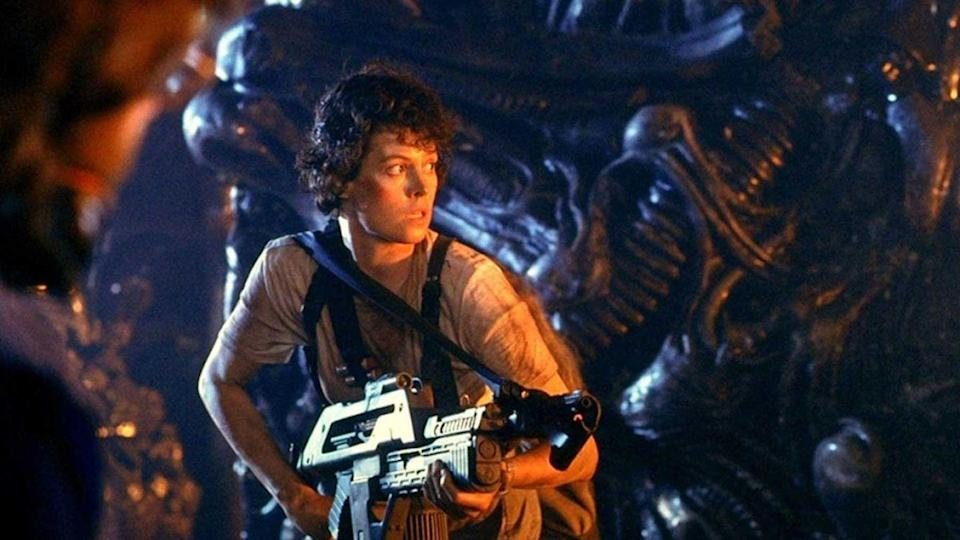 """<p><a class=""""link rapid-noclick-resp"""" href=""""https://www.hbo.com/movies/aliens"""" rel=""""nofollow noopener"""" target=""""_blank"""" data-ylk=""""slk:WATCH NOW"""">WATCH NOW</a></p><p>The second film in the sci-fi/action-filled <em>Alien</em> franchise is directed by James Cameron (<em>Titanic</em>, <em>Avatar</em>) and finds a vengeful Ripley (Sigourney Weaver) on a mission to protect a child from the deadly alien species. </p>"""