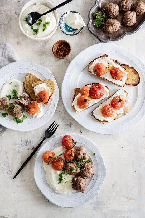 """<p>This simple meal, plus a bottle (or two) of wine and your closest friends, is what dreams are made of. </p><p><em><a href=""""http://www.designlovefest.com/2017/02/meatballs-with-a-cauliflower-mash/"""" rel=""""nofollow noopener"""" target=""""_blank"""" data-ylk=""""slk:Get the recipe from Design Love Fest »"""" class=""""link rapid-noclick-resp""""><span class=""""redactor-invisible-space"""">Get the recipe from Design Love Fest »</span> </a></em><br></p>"""