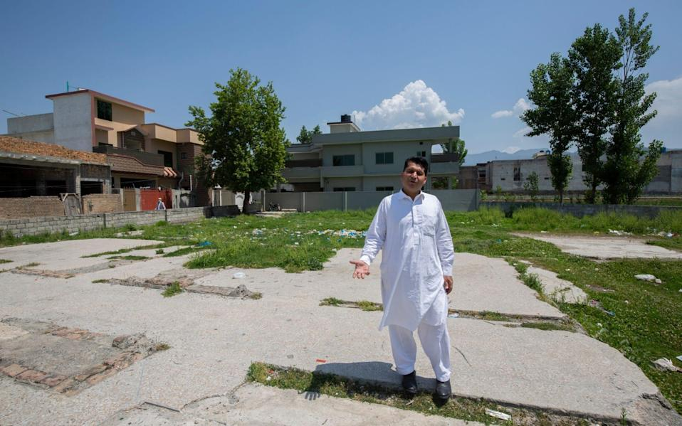 Shabbir Ahmed khan a resident of Osama street who used to live close to the compound. - Saiyna Bashir for the Telegraph