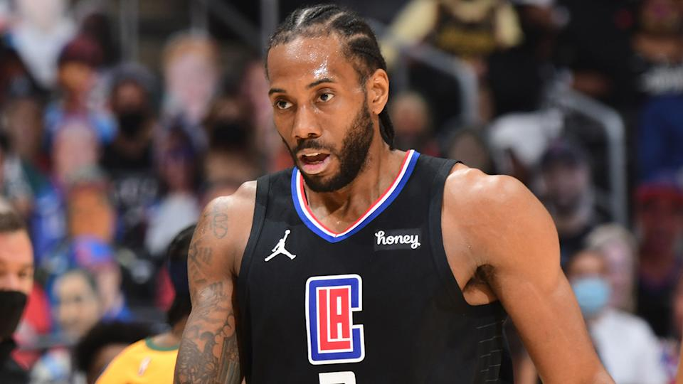 Kawhi Leonard, pictured here in action in the NBA.