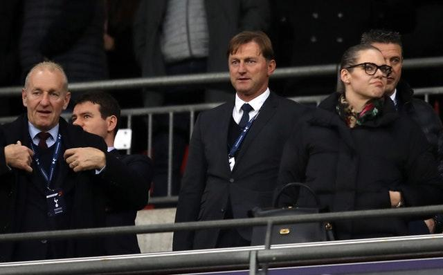 Hasenhuttl had a watching brief as Southampton lost to Tottenham