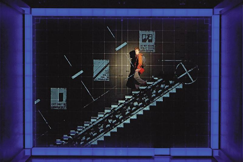 Right, the set for The Curious Incident of the Dog in the Night-Time