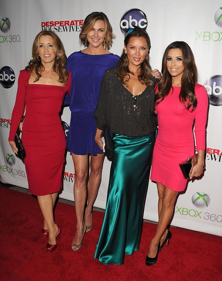 "Felicity Huffman, Brenda Strong, Vanessa Williams, and Eva Longoria attend the ""<a target=""_blank"" href=""http://tv.yahoo.com/desperate-housewives/show/36265"">Desperate Housewives</a>"" Series Finale Party at the W Hollywood on April 29, 2012 in Hollywood, California."