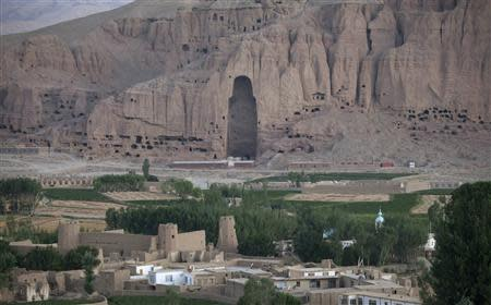 File photo of the Large Buddha niche in the town of Bamiyan