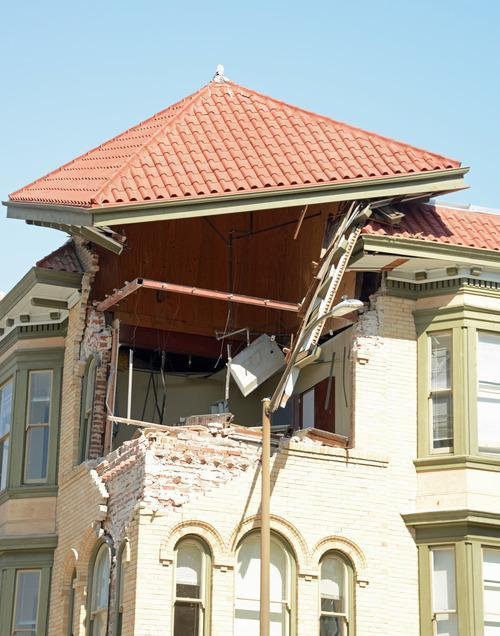 napa earthquake collapsed roof