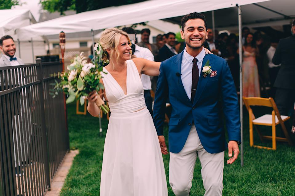 Benjamin Romer and Melanie Middleton represent scores of couples who intended to marry this summer and are going on with some version of their wedding. (Photo courtesy of Benjamin Romer and Melanie Middleton, photo credit to Turnquist Collective.)