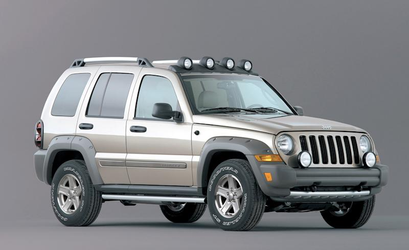 FILE - This undated file photo provided by Chrysler shows the 2005 Jeep Liberty Renegade. The National Highway Traffic Safety Administration says on its website Thursday June 14, 2012 that it has added Jeep Liberty and Cherokee SUVs to the investigation. The probe now covers 5.1 million vehicles. The agency says 15 people have died in 26 Grand Cherokee fires. The investigation affects 1993 to 2004 Grand Cherokees. Also covered are 1993-2001 Cherokees and 2002-2007 Liberty's. (AP Photo/Chrysler, File)