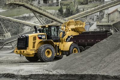A Cat 966M is the machine Caterpillar is showcasing as part of the