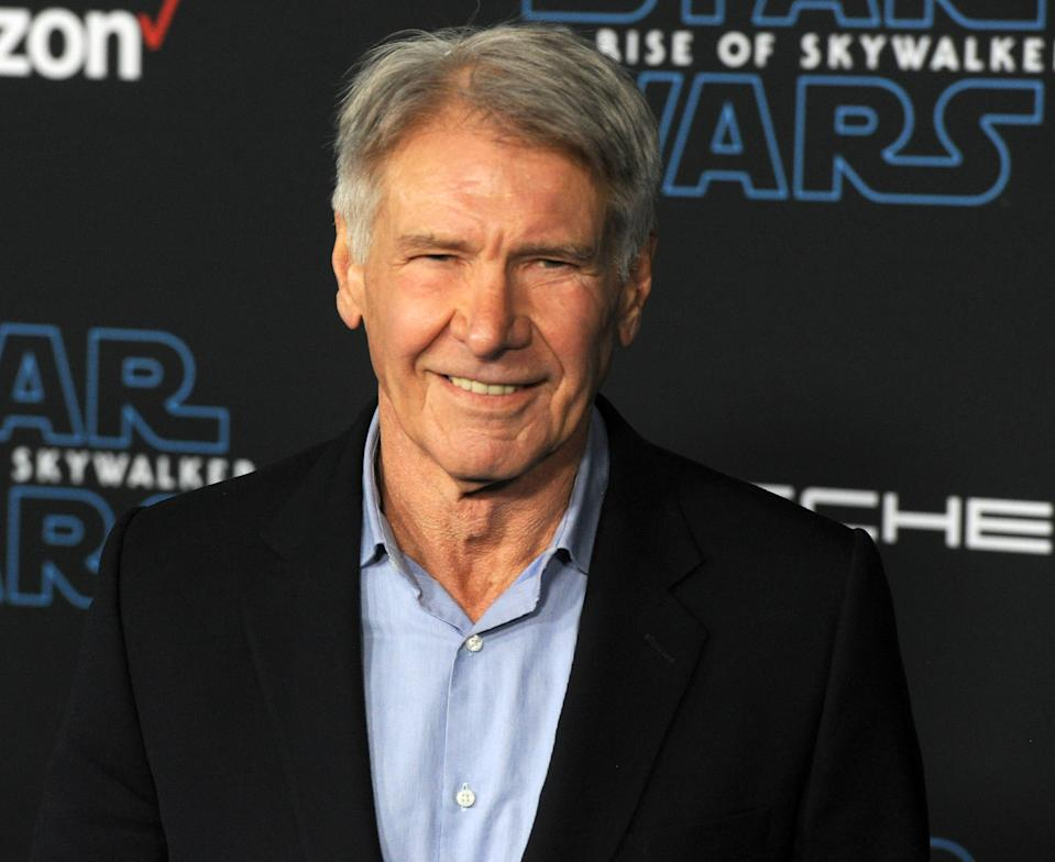 "Harrison Ford arrives for the Premiere Of Disney's ""Star Wars: The Rise Of Skywalker"" on December 16, 2019. (Photo by Albert L. Ortega/Getty Images)"