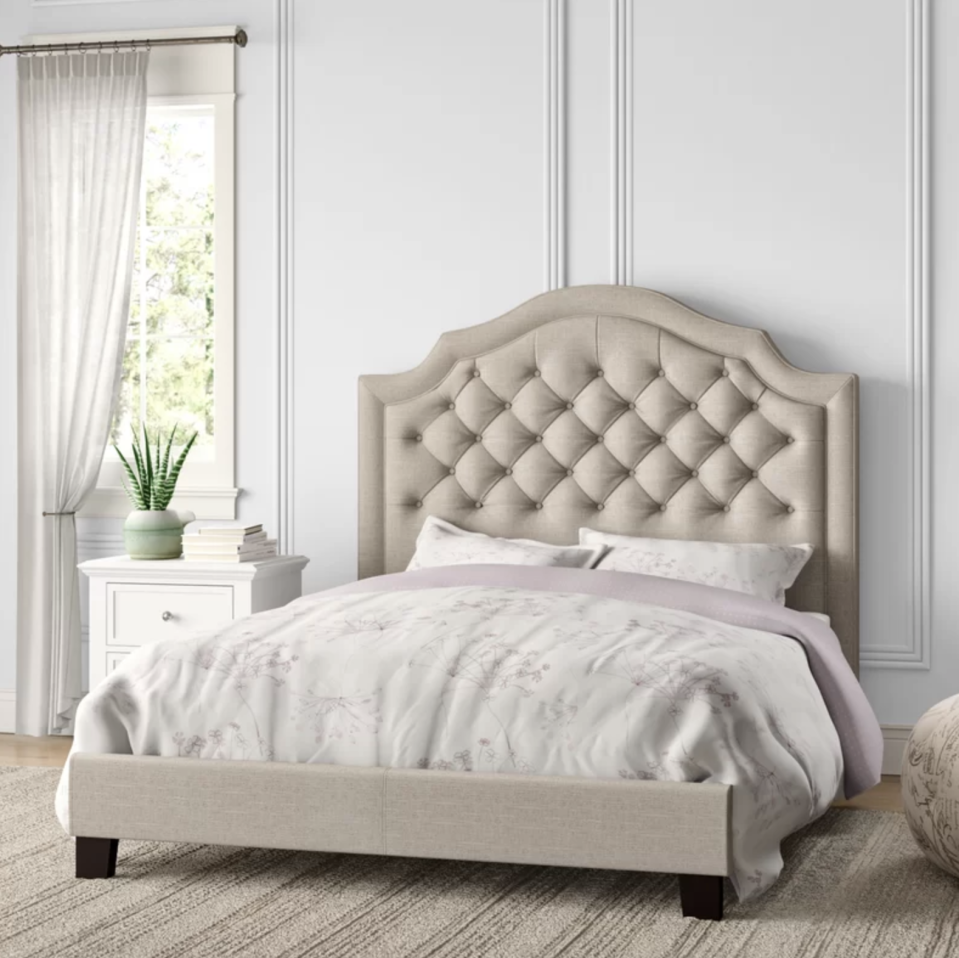 Drift off to dreamland in the lap of luxury. (Photo: Wayfair)