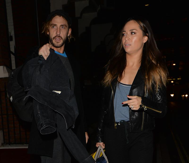 Seann Walsh and Katya Jones seen leaving a dance studio on October 17, 2018 in Mayfair, London. (PALACE LEE / Barcroft Media via Getty Images)