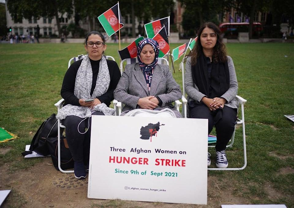 The women, who chose not to be named, have been on hunger strike since September 9 (Yui Mok/PA) (PA Wire)