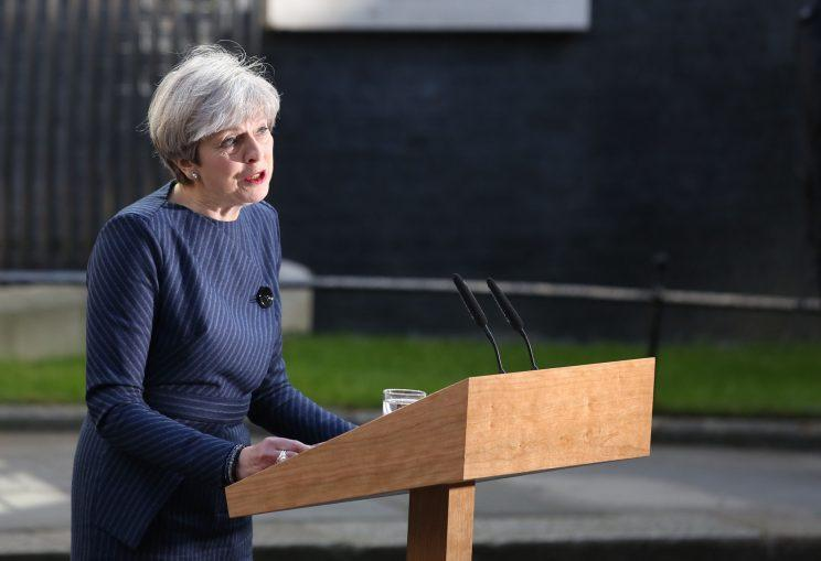 Theresa May general election statement