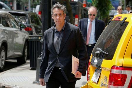 FILE PHOTO: U.S. President Donald Trump's personal lawyer Michael Cohen arrives at his hotel in New York