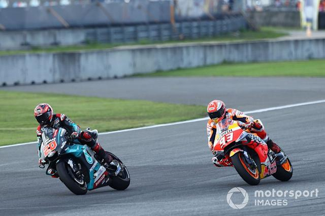 "Fabio Quartararo, Petronas Yamaha SRT, Marc Marquez, Repsol Honda Team <span class=""copyright"">Gold and Goose / Motorsport Images</span>"