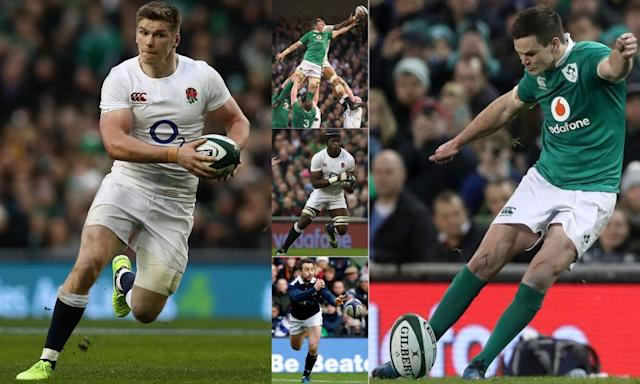 "<span class=""element-image__caption"">Owen Farrell, left, Jonny Sexton, right, and Maro Itoje, centre, are firmly tipped to be in Warren Gatland's squad to tour New Zealand while Peter O'Mahony, top, and Greig Laidlaw, bottom, also have strong claims.</span> <span class=""element-image__credit"">Composite: RFU/Getty, Sportsfile/Getty, Reuters, PA</span>"