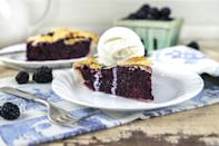 """<p>This delightful blackberry pie is summertime in a slice. It's easy to make if you use <a href=""""https://www.thedailymeal.com/cook/7-recipes-aren-t-pie-using-refrigerated-pie-crust?referrer=yahoo&category=beauty_food&include_utm=1&utm_medium=referral&utm_source=yahoo&utm_campaign=feed"""" rel=""""nofollow noopener"""" target=""""_blank"""" data-ylk=""""slk:refrigerated pie crust"""" class=""""link rapid-noclick-resp"""">refrigerated pie crust</a>. Serve with a scoop of ice cream or whipped cream on top.</p> <p><a href=""""https://www.thedailymeal.com/recipes/blackberry-pie-recipe-0?referrer=yahoo&category=beauty_food&include_utm=1&utm_medium=referral&utm_source=yahoo&utm_campaign=feed"""" rel=""""nofollow noopener"""" target=""""_blank"""" data-ylk=""""slk:For the Blackberry Pie recipe, click here."""" class=""""link rapid-noclick-resp"""">For the Blackberry Pie recipe, click here.</a></p>"""