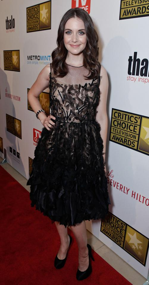 Alison Brie attends the 2012 Critics' Choice Television Awards at The Beverly Hilton Hotel on June 18, 2012 in Beverly Hills, California.