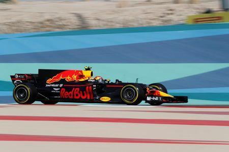 Redbull Formula One driver Max Verstappen of Holland drives during the first practice session of the Bahrain F1 Grand Prix. REUTERS/Hamad I Mohammed