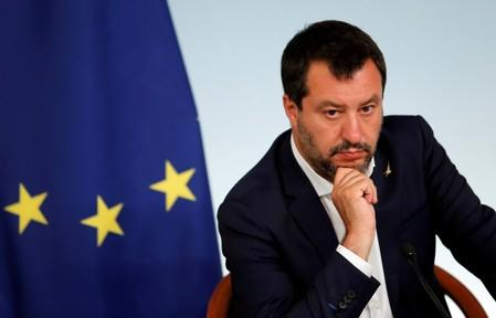 FILE PHOTO: Italian PM Conte and Deputy PM Salvini hold a joint news conference in Rome