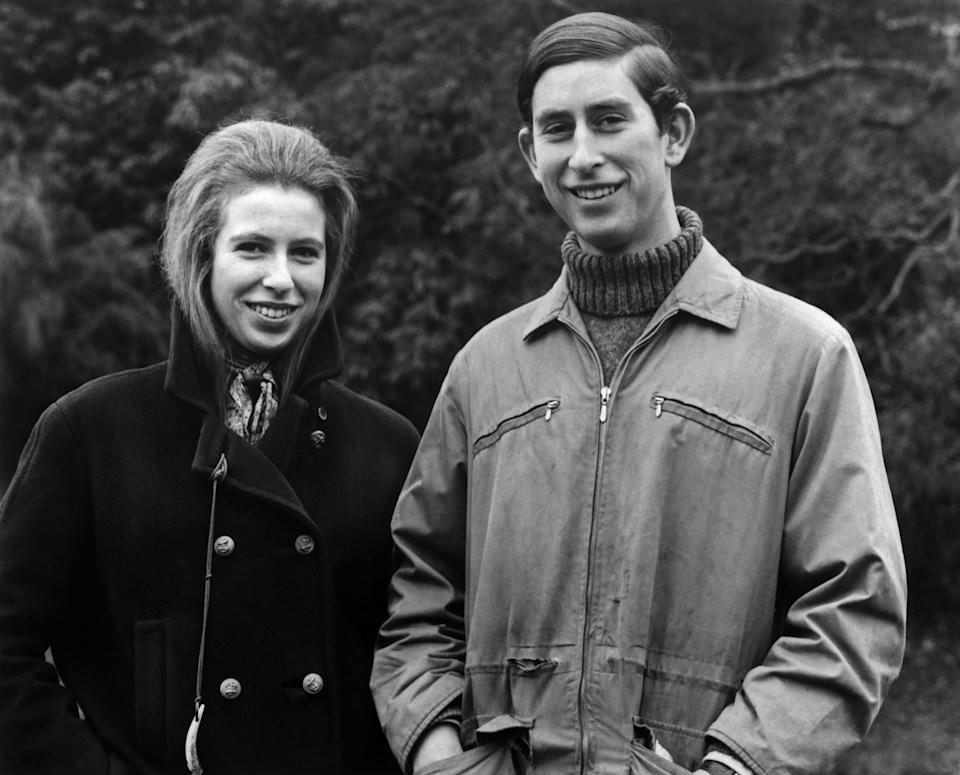 Princess Anne and her brother Prince Charles (Getty)